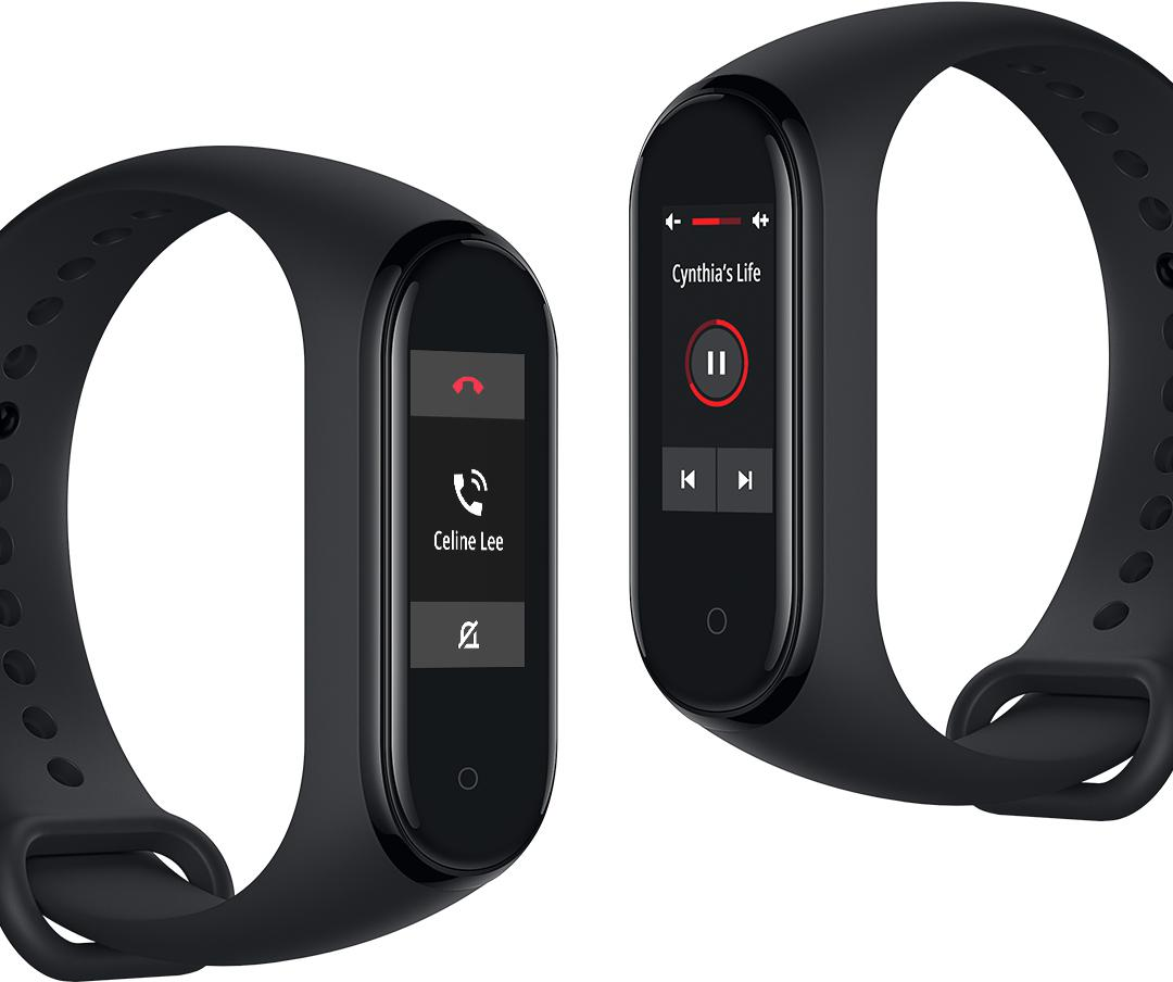 "Mi Smart Band 4 Bracelet connecté Noir AMOLED 2,41 cm (0.95"")"