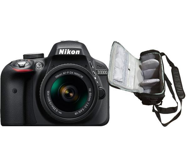 D3300 + AF-P DX 18-55mm G VR + professionele camera tas