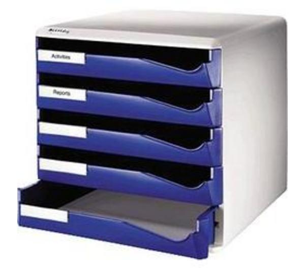 Corbeille courrier LEITZ Trieur de bureau 52800035 Bleu