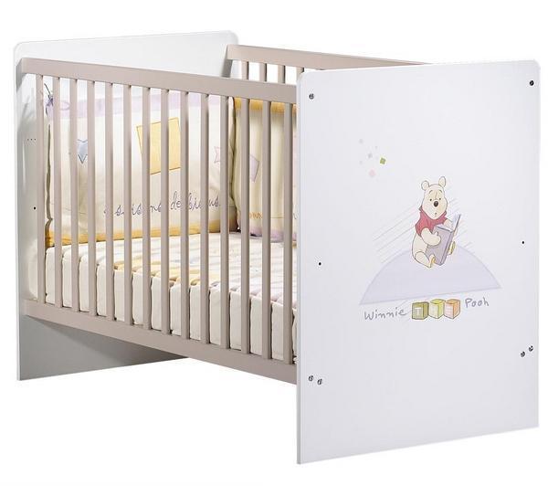 Lit bébé en bois - SAUTHON - Lit enfant Winnie l\'Ourson (120 x 60 ...