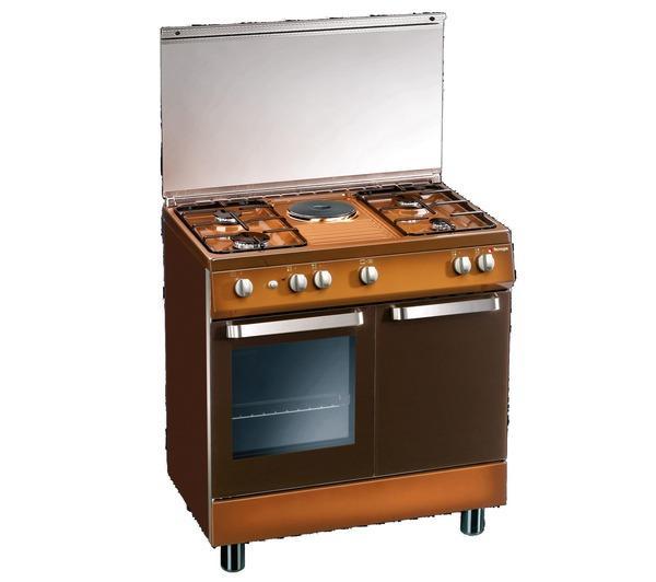 d881cs cucina a gas con forno elettrico 80x50cm4 fuochi1 piastra