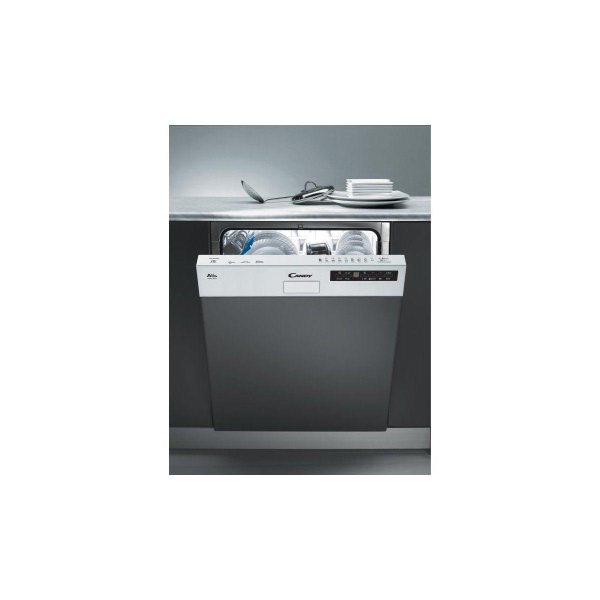 détaillant en ligne 7211a 4442d CANDY CDS2D35W - Lave vaisselle encastrable - 13 couverts - 46 dB - A++ -  Larg 60 cm - Bandeau blanc