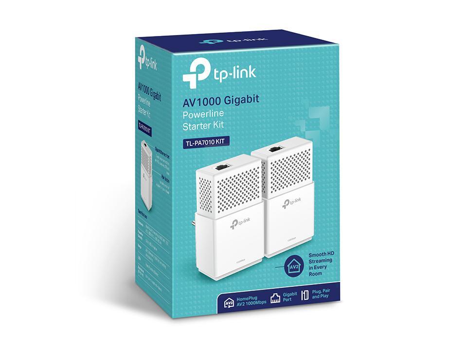 AV1000 1000Mbit/s Ethernet/LAN Blanc 2pièce(s) Adaptateur réseau CPL