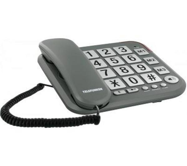 Téléphone fixe TELEFUNKEN COSI TF401 GRIS