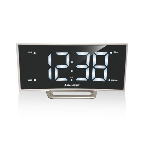 4ad5454c3ef Rádio - New Majestic - RS-124 rádio Relógio Digital Branco