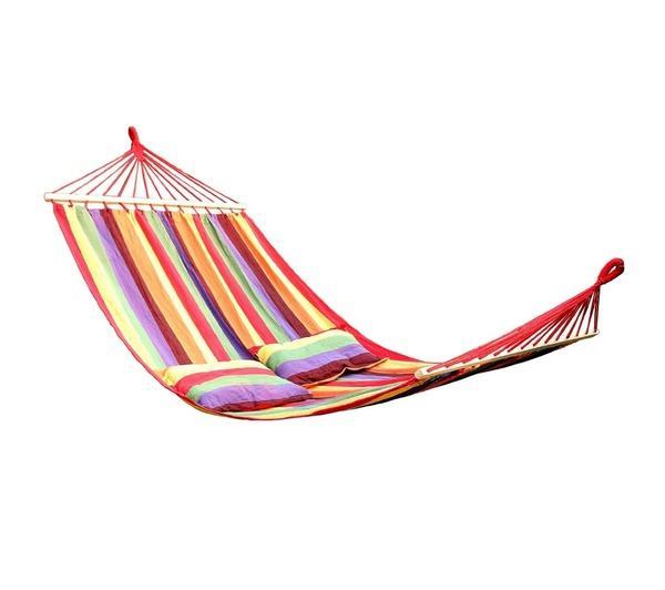 Hamac de jardin transat bain de soleil multicolore 300 kg 2212021
