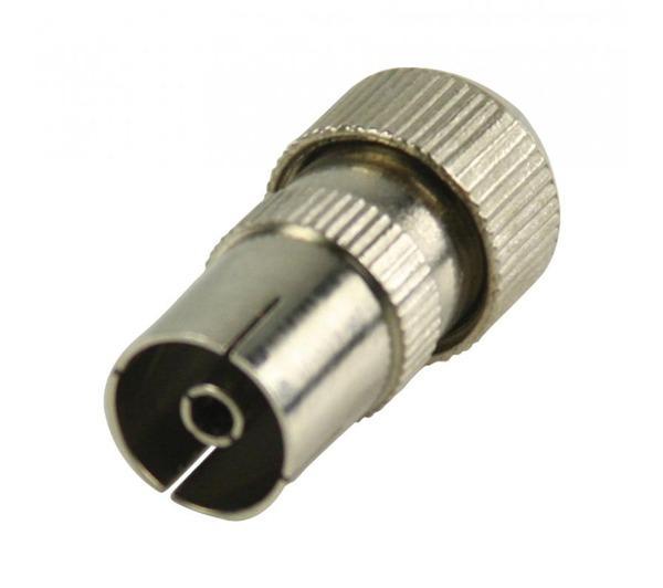 Connecteurs coaxiaux sans soudure à fiche coaxiale femelle métalliques