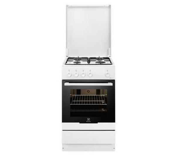 cucine - electrolux - cucina 4 fuochi forno elettrico 50x50 bianco ... - Cucina 4 Fuochi Forno Elettrico