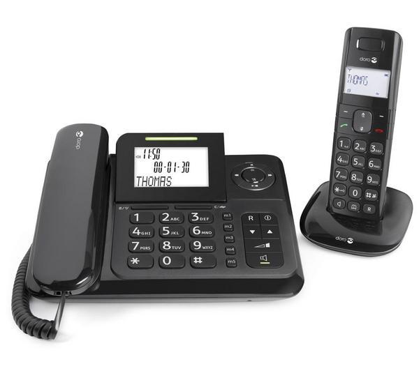 Comfort 4005 - Snoerloze telefoon met hoorn met koord, antwoordapparaat en nummerherkenning - DECT - zwart