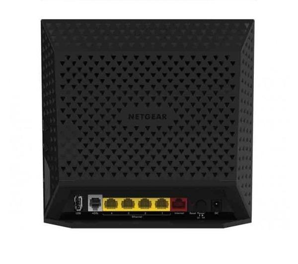 D6400 - Routeur sans fil - DSL - commutateur 4 ports - GigE - 802.11a/b/g/n/ac - Bande double