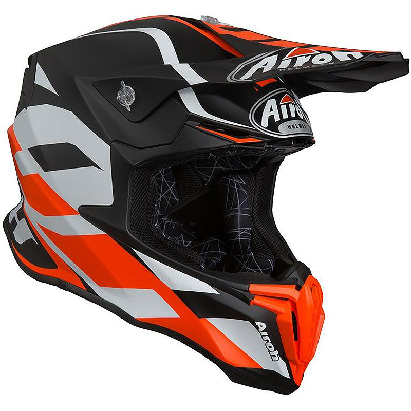 Casque Cross Twist Great Airoh Orange Mat Maxxessfr Casque Cross