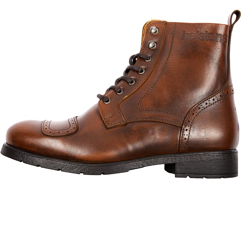 HELSTONS-Bottes Travel Cuir Aniline Tan