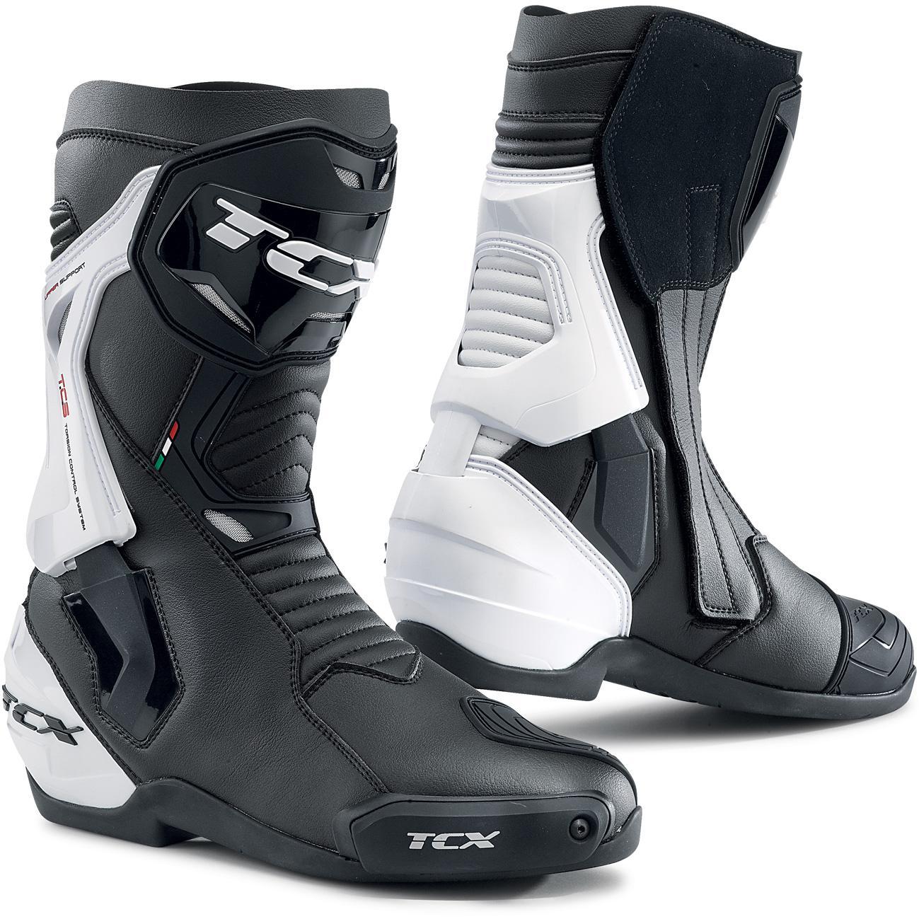 pointure 40 /à 45 40 Noir BIESSE RPRO-BOOT Bottes de moto imperm/éables en cuir noir 3M pour scooter moto urbaine et voyages en moto haute visibilit/é