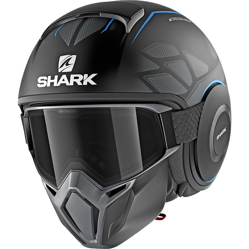 shark-Casque STREET-DRAK HUROK MAT