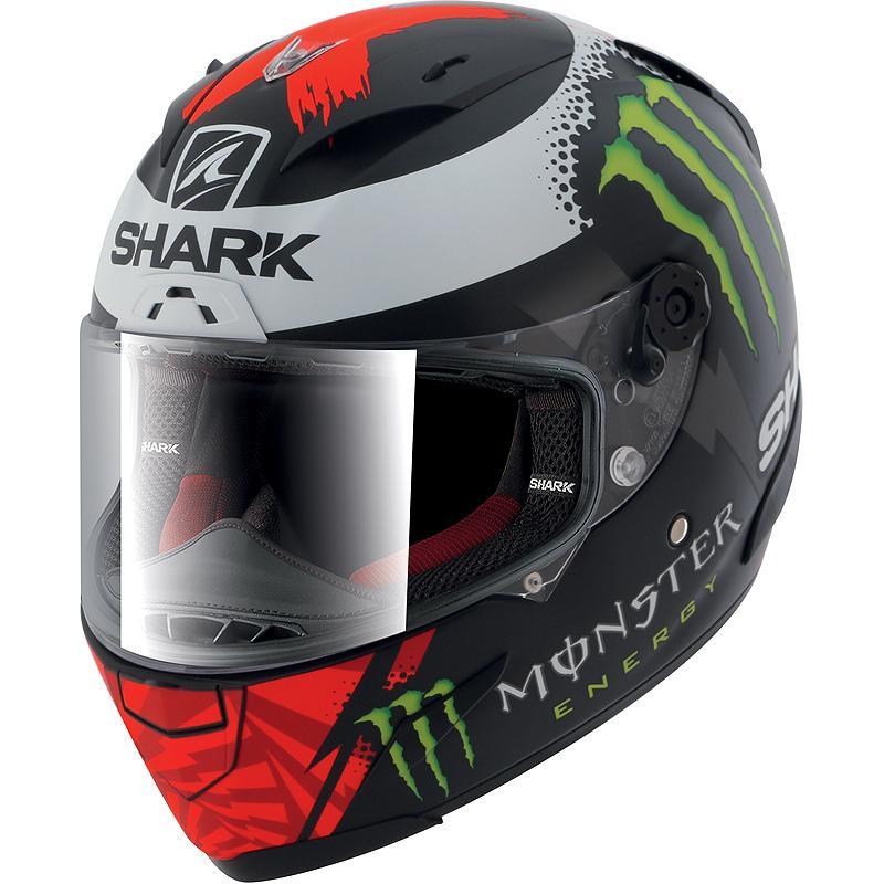 Casque Race R Pro Replica Lorenzo Monster Mat 2017 Shark Noirblanc