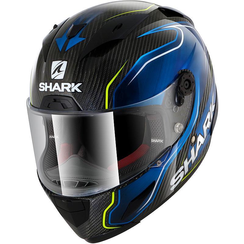 Casque Race R Pro Carbon Guintoli Shark Bleuvertcarbone Maxxess