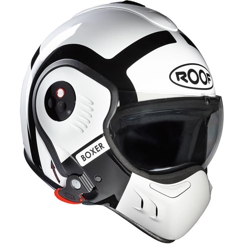 Casque Boxer V8 Bond Roof Blancnoir Moto Axxefr Casque Modulable
