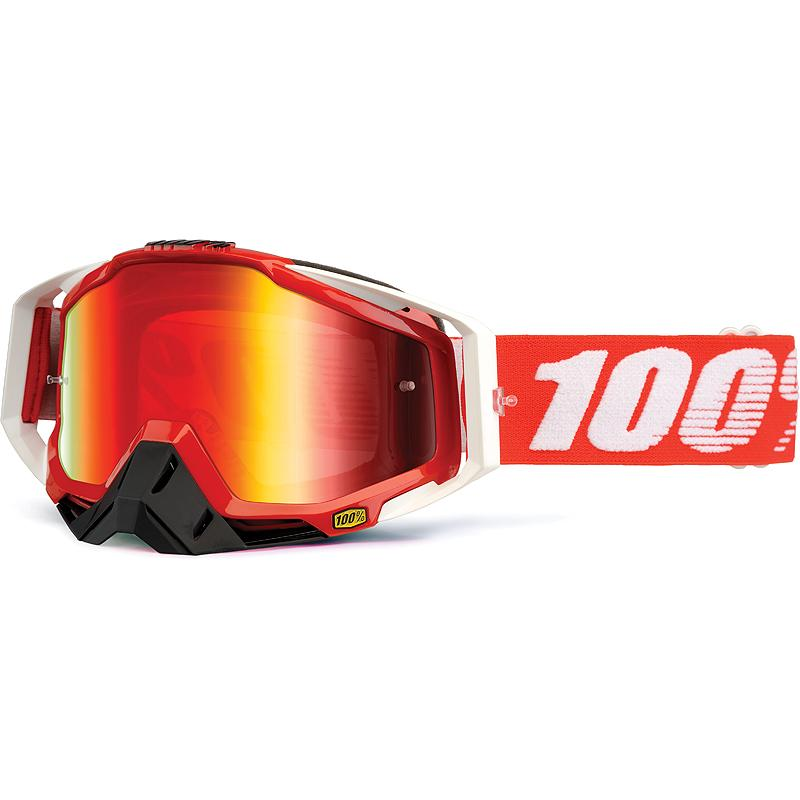 100-Masque cross RACECRAFT FIRE RED