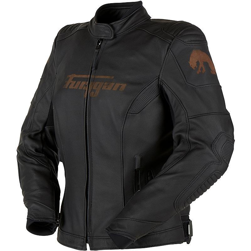 Manteau cuir marron femme