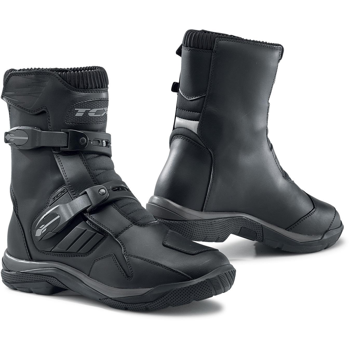 Bottes Chaussures Moto Conducteur pour Homme Gar/çon Hiver Cuir Noir /Étanche