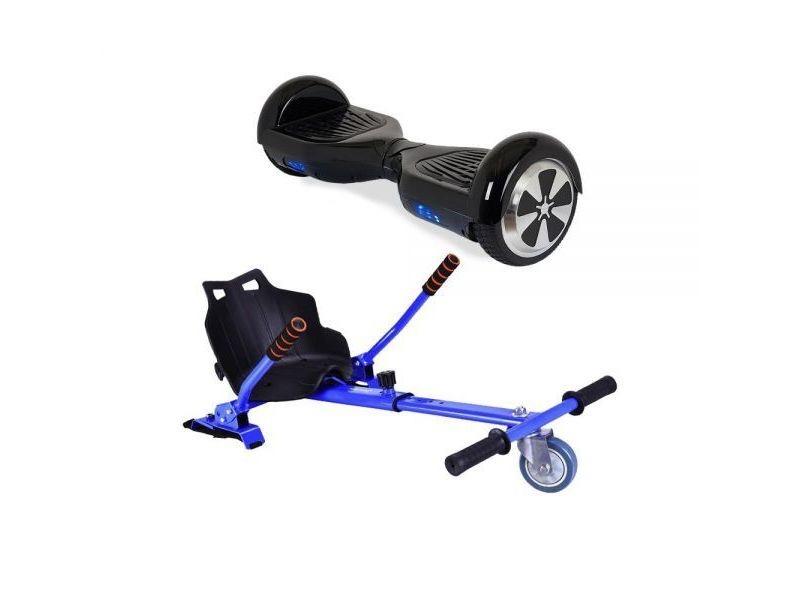 Pack Hoverkart bleu + Hoverboard noir