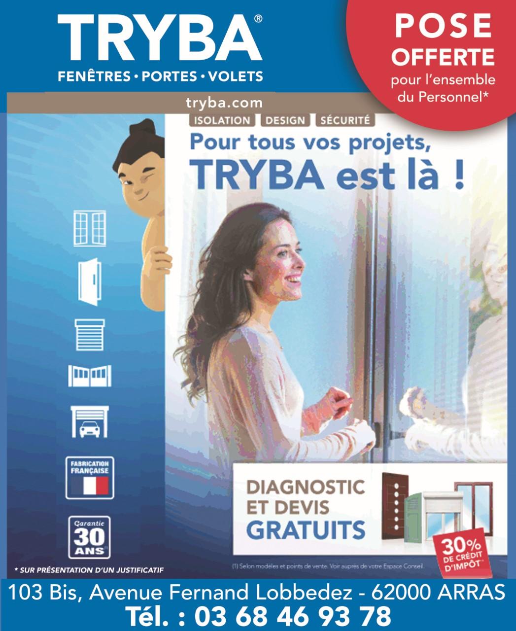 Tryba - Arras  - Pose de la fenêtre offerte